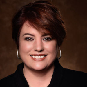 Head shot of Amber Burckhalter in a black sweater.