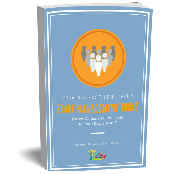 A manual written by the dog gurus about how to manage a staff in a pet industry business, it includes forms, guides, and checklists.