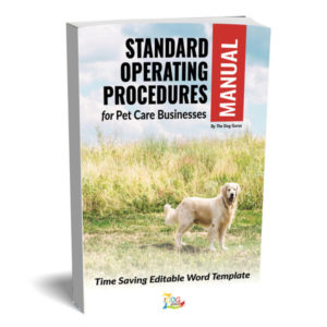 standard pet care business operating manual book cover by the dog gurus